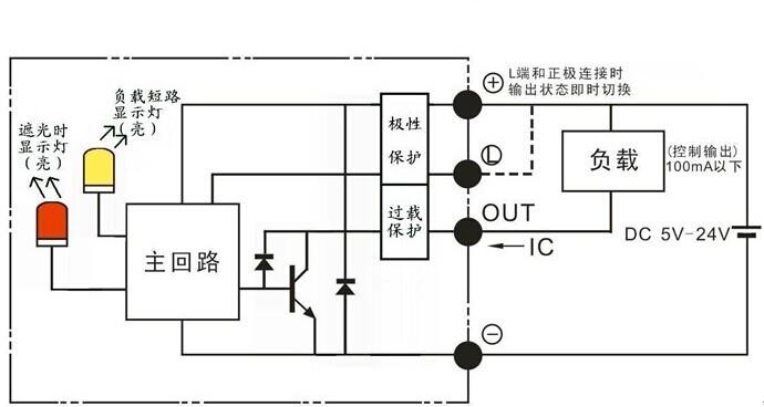 dc24v三线制传感器与plc接线