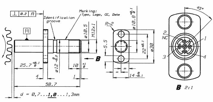 d12a型转速传感器 齿轮测速传感器